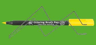 SAKURA ROTULADOR KOI COLORING BRUSH PEN YELLOW GREEN Nº 27