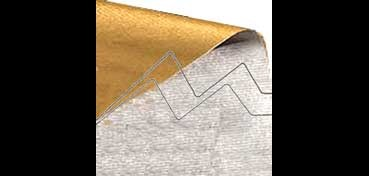 ROLLO KRAFT METALIZADO BICOLOR 0,70 X 2 M PLATA - ORO