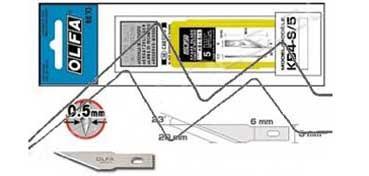 OLFA CUCHILLAS KB4-S/5 (BLISTER CON 5 CUCHILLAS PARA CORTES DE PRECISIÓN PARA MODELO AK-4)