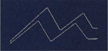PASSE - PARTOUT ALMA CRUDA 1,2MM 60X80CM  AZUL MARINO