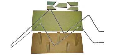 DECOLASH COLGADOR DE PARED LINEA BÁSICA - BASE DE 40X16 CM - COLGADORES: 3 X 9 CM + 2 X 7 CM