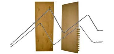 DECOLASH PANEL DE PARED LINEA CADRO - 140X50 CM - 12 COLGADORES DE 12 CM