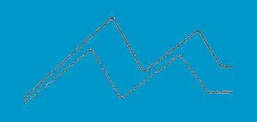 DECOART AMERICANA ACRÍLICO MATE AZUL TURQUESA (TURQUOISE BLUE) DA268