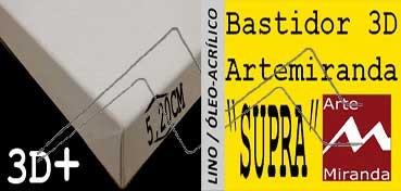 ARTEMIRANDA BASTIDOR SUPRA 3D EXTRA (GRUESO 5,20 CM ) RECTANGULAR 60X50 CM LINO (ÓLEO/ACRÍLICO)