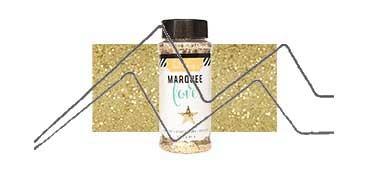 MARQUEE LOVE GLITTER PURPURINA GRUESA ORO (GOLD)