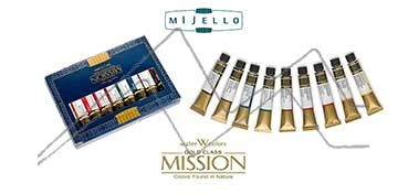 MIJELLO ACUARELA ARTIST MISSION GOLD CLASS SET 9 TUBOS DE 7 ML. INTRODUCCIÓN