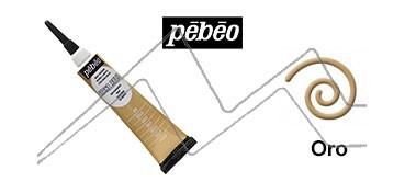 PEBEO CERNE RELIEF PASTA DE RELIEVE EN TUBO ORO