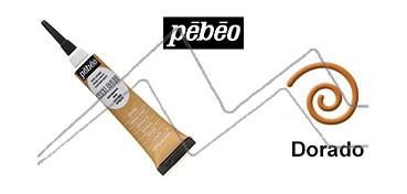 PEBEO CERNE RELIEF PASTA DE RELIEVE EN TUBO DORADO