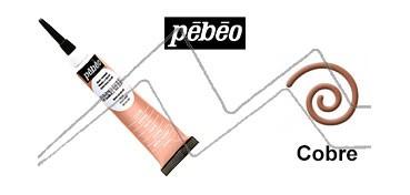 PEBEO CERNE RELIEF PASTA DE RELIEVE EN TUBO COBRE
