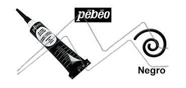 PEBEO CERNE RELIEF PASTA DE RELIEVE EN TUBO NEGRO