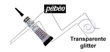 PEBEO CERNE RELIEF PASTA DE RELIEVE EN TUBO TRANSPARENTE GLITTER