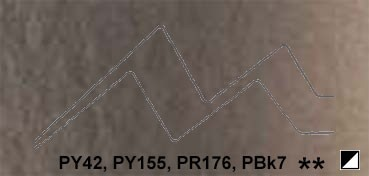 LUKAS AQUARELL 1862. TUBO DE ACUARELA ARTIST MARRON VAN DYCK SERIE 2 Nº 1112