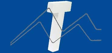 DECOPATCH: LETRA T  MEDIDAS 12,5 X 20,5 X 3CM