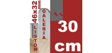 LISTÓN GALERÍA 3D (46 X 32) - 30 CM