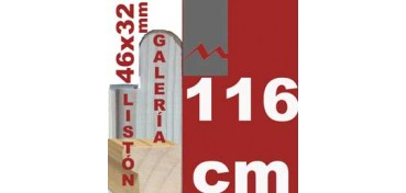 LISTÓN GALERÍA 3D (46 X 32) - 116 CM
