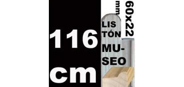 LISTÓN MUSEO (60 X 22) - 116 CM