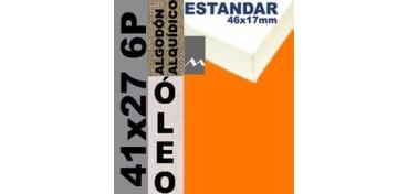 BASTIDOR ESTUDIO 46 X 17 ALGODÓN Nº2 (GRANO FINO) 41 X 27 6P (ÓLEO)