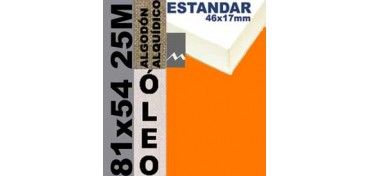 BASTIDOR ESTUDIO 46 X 17 ALGODÓN Nº2 (GRANO FINO) 81 X 54 25M (ÓLEO)