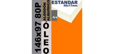 BASTIDOR ESTUDIO 46 X 17 ALGODÓN Nº2 (GRANO FINO) 146 X 97 80P (ÓLEO)