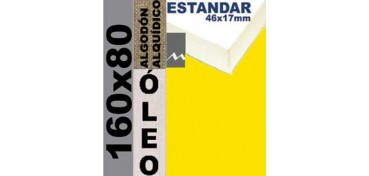 BASTIDOR ESTUDIO 46 X 17 ALGODÓN Nº2 (GRANO FINO) 160 X 80 (ÓLEO)