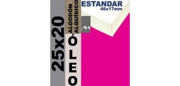 BASTIDOR ESTUDIO 46 X 17 ALGODÓN Nº2 (GRANO FINO) 25 X 20 (ÓLEO)