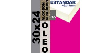 BASTIDOR ESTUDIO 46 X 17 ALGODÓN Nº2 (GRANO FINO) 30 X 24 (ÓLEO)
