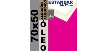 BASTIDOR ESTUDIO 46 X 17 ALGODÓN Nº2 (GRANO FINO) 70 X 50 (ÓLEO)