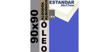 BASTIDOR ESTUDIO 46 X 17 ALGODÓN Nº2 (GRANO FINO) 90 X 90 (ÓLEO)