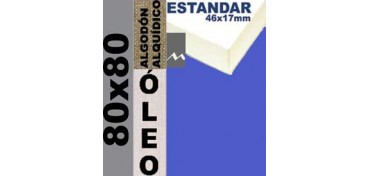BASTIDOR ESTUDIO 46 X 17 ALGODÓN Nº2 (GRANO FINO) 80 X 80 (ÓLEO)