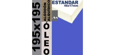 BASTIDOR ESTUDIO 46 X 17 ALGODÓN Nº2 (GRANO FINO) 195 X 195 (ÓLEO)