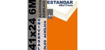 BASTIDOR ESTUDIO 46 X 17 ALGODÓN Nº2 (GRANO FINO) 41 X 24 6M (ÓLEO/ACRÍLICO)