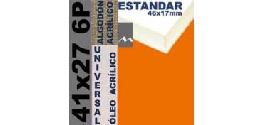 BASTIDOR ESTUDIO 46 X 17 ALGODÓN Nº2 (GRANO FINO) 41 X 27 6P (ÓLEO/ACRÍLICO)