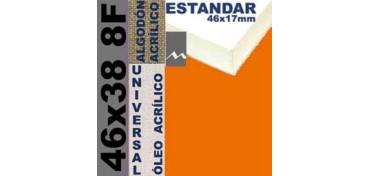 BASTIDOR ESTUDIO 46 X 17 ALGODÓN Nº2 (GRANO FINO) 46 X 38 8F (ÓLEO/ACRÍLICO)