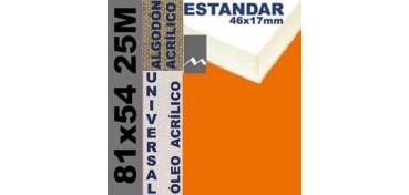 BASTIDOR ESTUDIO 46 X 17 ALGODÓN Nº2 (GRANO FINO) 81 X 54 25M (ÓLEO/ACRÍLICO)