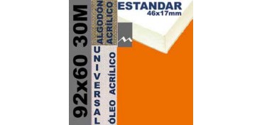 BASTIDOR ESTUDIO 46 X 17 ALGODÓN Nº2 (GRANO FINO) 92 X 60 30M (ÓLEO/ACRÍLICO)