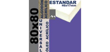 BASTIDOR ESTUDIO 46 X 17 ALGODÓN Nº2 (GRANO FINO) 80 X 80 (ÓLEO/ACRÍLICO)