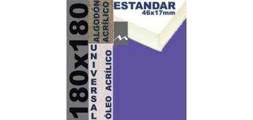 BASTIDOR ESTUDIO 46 X 17 ALGODÓN Nº2 (GRANO FINO) 180 X 180(ÓLEO/ACRÍLICO)