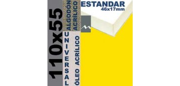 BASTIDOR ESTUDIO 46 X 17 ALGODÓN Nº2 (GRANO FINO) 110 X 55 (ÓLEO/ACRÍLICO)