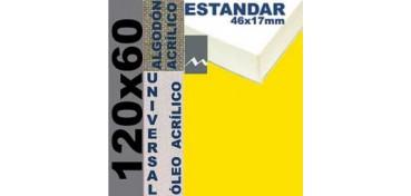 BASTIDOR ESTUDIO 46 X 17 ALGODÓN Nº2 (GRANO FINO) 120 X 60 (ÓLEO/ACRÍLICO)
