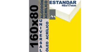 BASTIDOR ESTUDIO 46 X 17 ALGODÓN Nº2 (GRANO FINO) 160 X 80 (ÓLEO/ACRÍLICO)