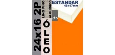 BASTIDOR ESTUDIO 46 X 17 LINO Nº1 (GRANO FINO) 24 X 16 2P (ÓLEO)