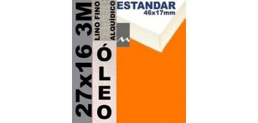 BASTIDOR ESTUDIO 46 X 17 LINO Nº1 (GRANO FINO) 27 X 16 3M (ÓLEO)