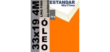 BASTIDOR ESTUDIO 46 X 17 LINO Nº1 (GRANO FINO) 33 X 19 4M (ÓLEO)