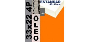 BASTIDOR ESTUDIO 46 X 17 LINO Nº1 (GRANO FINO) 33 X 22 4P (ÓLEO)