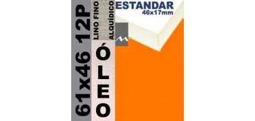 BASTIDOR ESTUDIO 46 X 17 LINO Nº1 (GRANO FINO) 61 X 46 12P (ÓLEO)