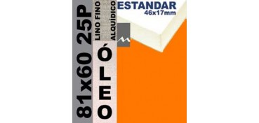 BASTIDOR ESTUDIO 46 X 17 LINO Nº1 (GRANO FINO) 81 X 60 25P (ÓLEO)