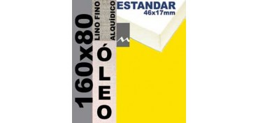 BASTIDOR ESTUDIO 46 X 17 LINO Nº1 (GRANO FINO) 160 X 80 (ÓLEO)