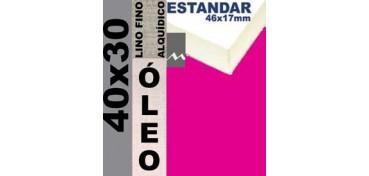 BASTIDOR ESTUDIO 46 X 17 LINO Nº1 (GRANO FINO) 40 X 30 (ÓLEO)