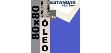 BASTIDOR ESTUDIO 46 X 17 LINO Nº1 (GRANO FINO) 80 X 80 (ÓLEO)
