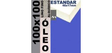 BASTIDOR ESTUDIO 46 X 17 LINO Nº1 (GRANO FINO) 100 X 100 (ÓLEO)
